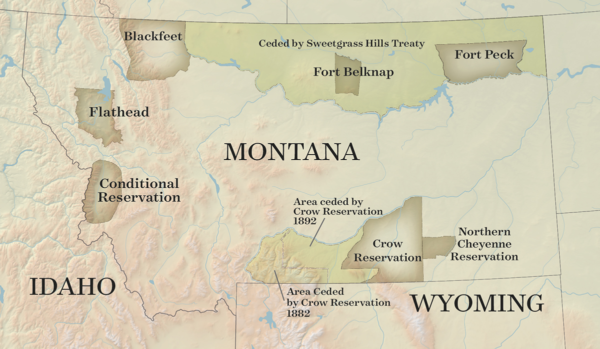 Crow Reservation Montana Map.History Native News 2018